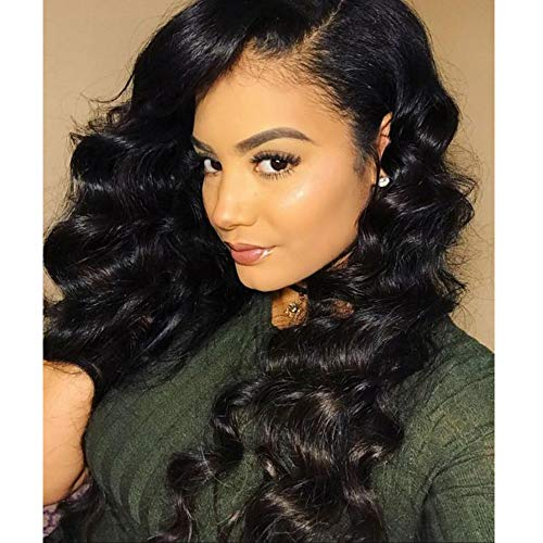 LaaVoo 20zoll Body Wave Clip on Real Hair Extension Human Hair 7 Stuck/Paket Naturlich Schwarz Clips Extensions Echthaar 100G (Human Hair Extensions Gewellt)