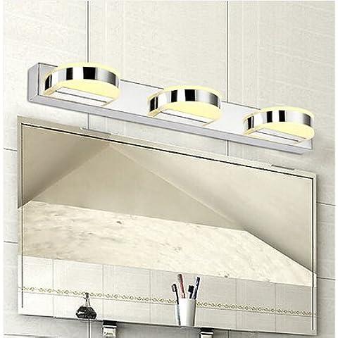 LYNDM Bagno LED luce specchietto 12W 5630 lampade 500mm acciaio
