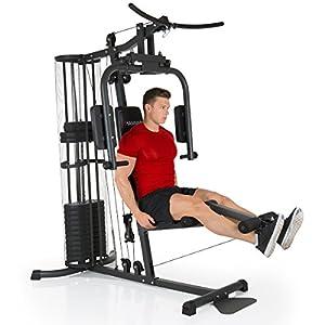 HAMMER Premium Kraftstation – Über 30 Übungsmöglichkeiten für Schulter, Brust, Rücken, Beine, Bauch, Arme