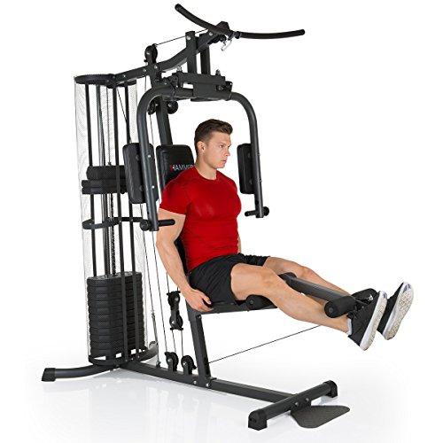 Premium HAMMER Kraftstation - Über 30 Übungsmöglichkeiten für Schulter, Brust, Rücken, Beine, Bauch, Arme