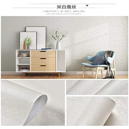 Carta da parati autoadesiva carta da parati di colore solido camera da letto grigio caldo decorativo colore bianco adesivo di seta b