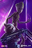 THE AVENGERS : INFINITY WAR – Groot Rocket - U.S Movie Wall Poster Print - 30CM X 43CM Brand New