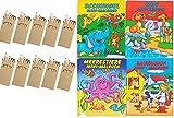 10 Sets Buntstifte Malset für Kinder Gastgeschenke Mitgebsel für Kinderparty Geburtstag, mit zehn Malbüchern