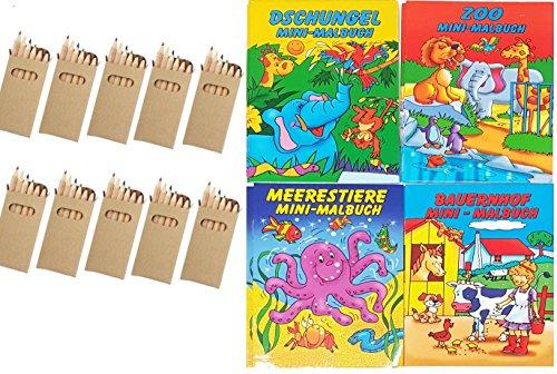 10 Sets Buntstifte Malset für Kinder Gastgeschenke Mitgebsel für Kinderparty Geburtstag, mit zehn...