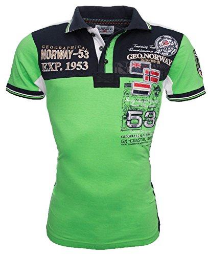Geographical Norway Herren Polo Shirt Kurzarm T-Shirt Sommer S-XXXL Grün