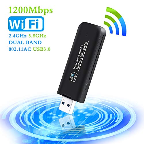 PiAEK Adaptador WiFi USB 1200Mbps 802.11AC Dual Band