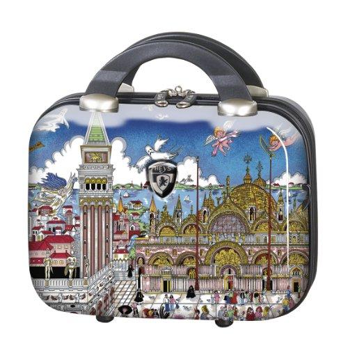 Koffer, Reisegepäck, Trolley by Heys - Premium Designer Hartschalen Koffer - Künstler Fazzino Venezia Beauty Case
