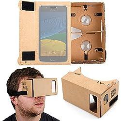 DURAGADGET Gafas de Realidad Virtual VR para Smarphones Smarpthone Xiaomi Redmi Note 5A Prime/Motorola Moto G5 Plus