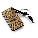 Lieblingsmensch aus Holz Oma Schlüsselanhänger, 12 cm, Braun