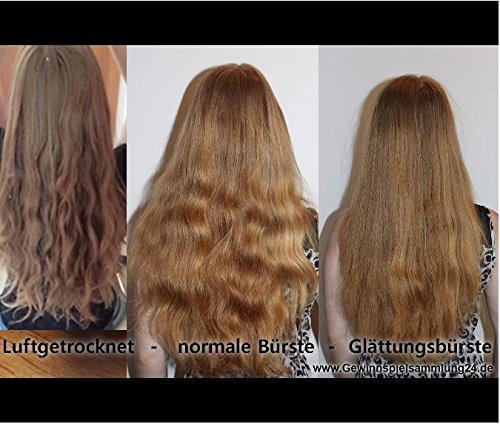 USpicy US-FS005 Glätteisen Glättungbürste elektrische Glättbürste für Lange Haare Glätten und Pflegen -