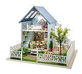 Maison miniature en bois - A monter soi-même - Modèle forêt et villa - Meubles, fournitures et boîte à musique