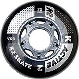 K2 Inline Skates Rollenset 72mm ACTIVE WHEEL Ersatzrollen - Schwarz - 4 Rollen - 30B3000.1.1.1SIZ