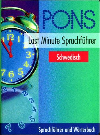 Preisvergleich Produktbild PONS Last Minute Sprachführer, Schwedisch