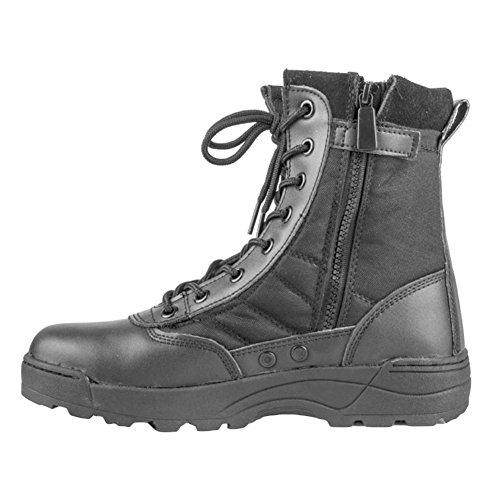 Herren Outdoor Boots Army Stiefel - High Worker Boots Einsatzstiefel Kampfstiefel Wanderschuhe Combat Boots Leinenschuhe Tactical Schuhe Schwarz Braun 39 - 45 Highdas Schwarz