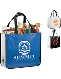 Large Laminated Non-Woven Shopper Tote/ Eco-friendly Reusable Bag Non Woven Grocery Tote Bag Gusset With Handles...