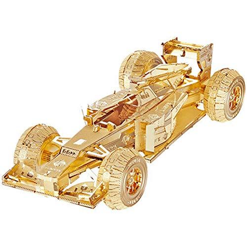 Formel F1, die Spielzeug 3D dreidimensionales Metall läuft, baute vorbildliches DIY Metallpuzzlespiel-Erwachsenenspielzeug kreatives Geschenk Gold + Werkzeug A + B eine Größe zusammen