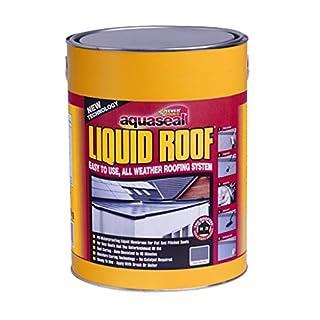 Everbuild AQLIQRFBK7 Aquaseal Liquid Roof Sealant, Black, 7 kg