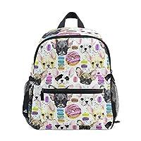 Kids Backpack, French Bulldog Printed Personalised Lightweight Preschool Bag for Children Girls Boys