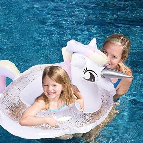 HANMUN Baby Sitz Boot Schwimmen Schwimmt Kinder Einhorn Aufblasbare Schwimmbecken Liegen Baby Sommer Spaß Außenpool Spielzeug Float Floß