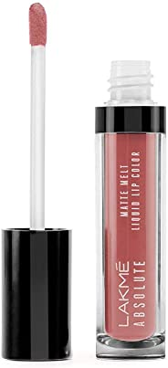 Lakme Absolute Matte Melt Liquid Lip Color, Peach Rose, 6ml