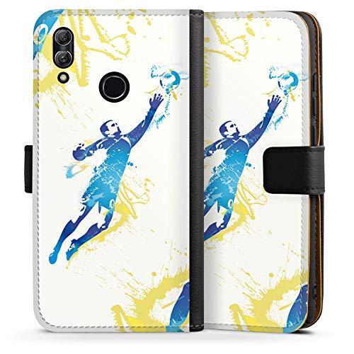 DeinDesign Tasche kompatibel mit Huawei Honor 10 Lite Leder Flip Case Ledertasche Torhueter Football Fussball -