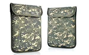 Housse de protection Anti-Radiation/Signal blocage pour les Tablet PC et autres iPad/iPad2/iPad3 - Army Green - Green Camouflage