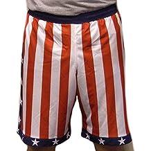 Rocky Balboa de bandera americana para hombre Apollo Creed Estados Unidos América IV rojo blanco azul