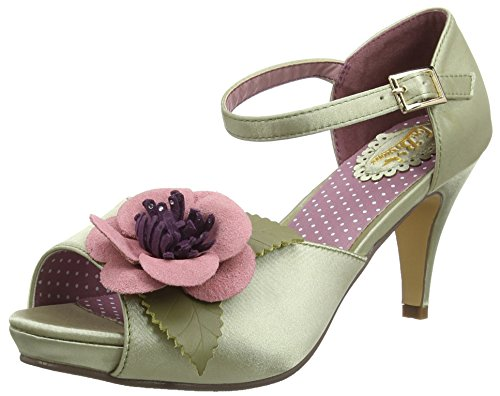 Joe BrownsCorsage Vintage Occasion Shoes - Zapatos de tacón mujer, color verde, talla 42