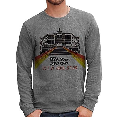 Sweatshirt Back To The Future Delorean - Zurück In Die Zukunft - FILM by Mush Dress Your Style - (Zurück Pullover)