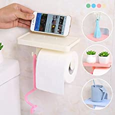HOME CUBE Multifunction Tissue Boxes Mobile Shelf Rack Roll Toilet Paper Storage Holder Bathroom Organizer (Random, HC-0764)