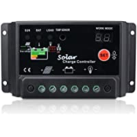 Sunix® 30A Regulador de Carga, 12V-24V Controlador de Carga de Inteligente PWM Panel Solar, Protección contra Sobrecarga, Compensación Automática de Temperatura