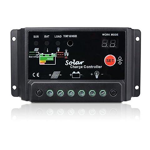 Sunix® Régulateur de charge Panneau solaire 30A Régulateur de charge intelligent 12V-24V