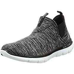 Skechers Flex Appeal 2.0 High Card Womens Slip On Sneakers Black/White 7