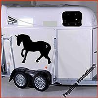 trabendes Pferd Modell 1 Aufkleber Anhänger Pferd Anhänger ca. 80x60cm