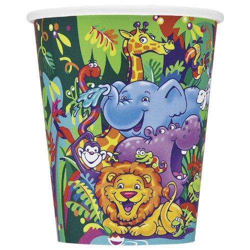 Pappbecher Party Deko für Kindergeburtstag Safari (Safari Trolley)