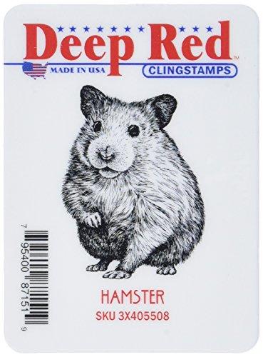 Deep Red Stamps Tief Rot Briefmarken Hamster–Tief Rot Selbst Stempel, Acryl, Mehrfarbig