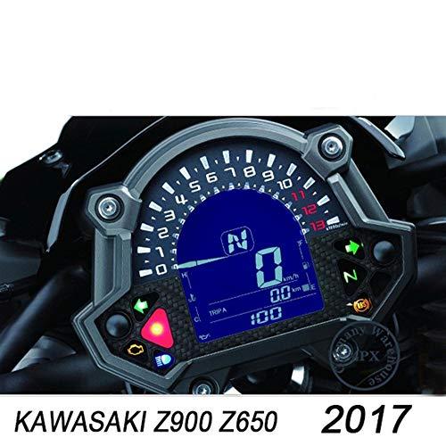 MUJUN Spare Universalersatzreparatur-Motorradteile für Kawasaki Z900 Z650 17-Meter-Folien-Motorradinstrument-Schutzfolie Kratzfeste Passende Folie Roller (Color : Black) -