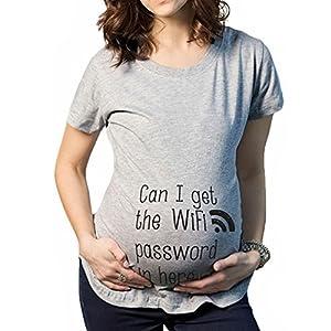 QKIM-Camiseta-de-maternidad-Elasticidad-Suave-Embarazada-Camiseta-Premam-T-shirt-beb-divertido-estampado-para-mujer-Can-I-get-the-wifi-password-in-here-L