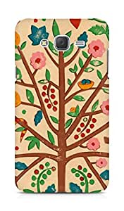 Amez designer printed 3d premium high quality back case cover for Samsung Galaxy J7 (Tree drawing art)