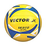 Vector X VOLLEYBALL-VENTO-YLW-BLU-18P Volleyball, 18 Panels (Multicolour)