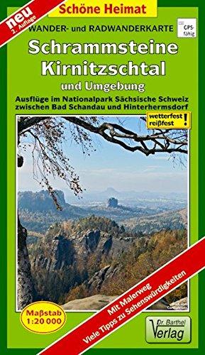Preisvergleich Produktbild Wander- und Radwanderkarte Schrammsteine, Kirnitzschtal und Umgebung: Ausflüge im Nationalpark Sächsische Schweiz zwischen Bad Schandau und Hinterhermsdorf. 1:20000 (Schöne Heimat)
