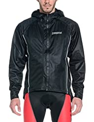 Nalini ciclismo ropa rompevientos NUNCIO chaqueta negro con capucha