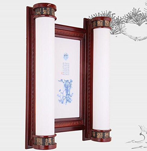 """moderna neo-arte cinese stile prugna,Orchid,il bambù e il crisantemo atmosferica stanza vivente solido legno lampada da parete a parete rettangolare lampada LED luce corridoio corridoio lampada bedroom 400*740*170mm ,""""bambù pattern"""""""