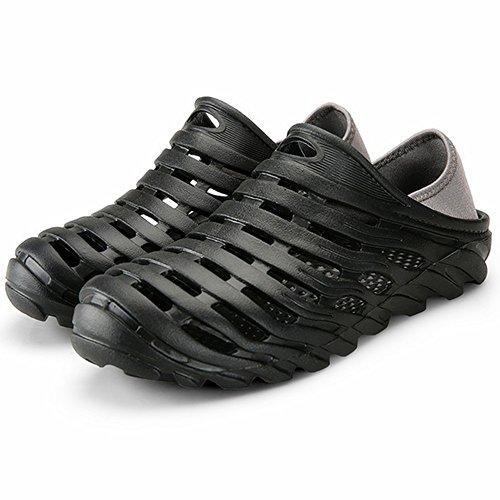 Kqpoinw sandali da passeggio unisex leggero e traspirante zoccoli da giardino antiscivolo asciugatura rapida sport all'aria aperta scarpe da spiaggia (44 eu, black)