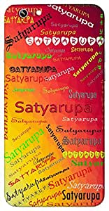 Satyarupa (truth personified) Name & Sign Printed All over customize & Personalized!! Protective back cover for your Smart Phone : One Plus Three / One Plus 3