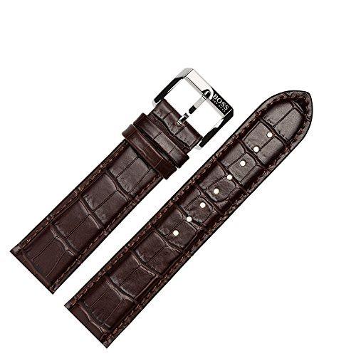 Hugo Boss Uhrenarmband 22mm Leder Braun Kroko - 659302267