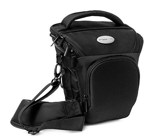 PRO NOVO SLR kompakte Kameratasche Colttasche schwarz (mit Schultergurt, Beckengurt, Gurttunnel) für Kamera Typ, siehe Produktdetails)
