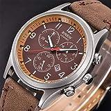 COOKDATE Damen Herren Uhren Wasserdicht Edelstahl Armbanduhren Analog Uhr Kaffee