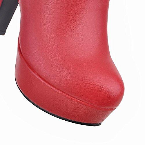MissSaSa Donna Scarpe col Tacco Alto Elegante Stivaletti Rosso