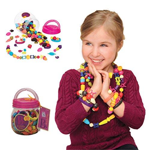 B. Toys 44223 Pop Arty Beauty Pops Kinderschmuck zum Basteln, 150 Teile -